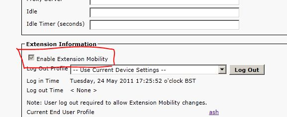 """How to Configure """"Extension Mobility"""""""